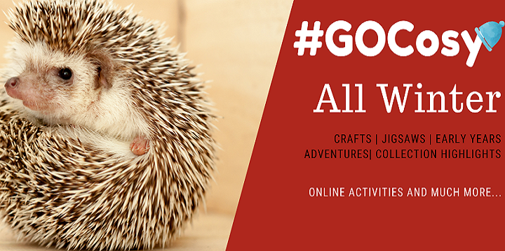 GOCosy campaign image advertising Winter crafts, jigsaws and other activities