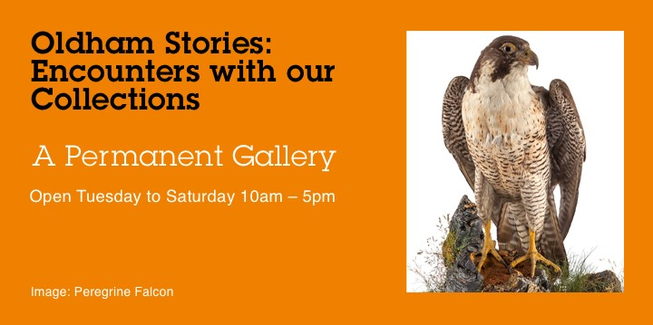 Advertisement for Oldham Stories Permanent Gallery