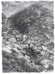 'Water Tumbles Below the Trinnacle' by Margaret Uttley