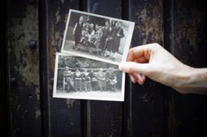 Hand holding photos image