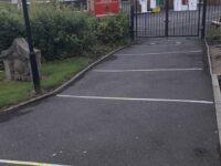 Alexandra Park School's social distancing markers
