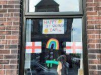 St. George and rainbow windows