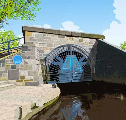 Picture of Diggle canal tunnel.
