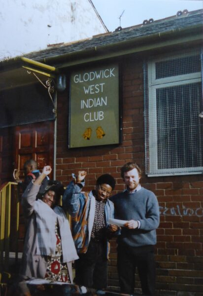 This photograph records an event held at the Glodwick West Indian Club.