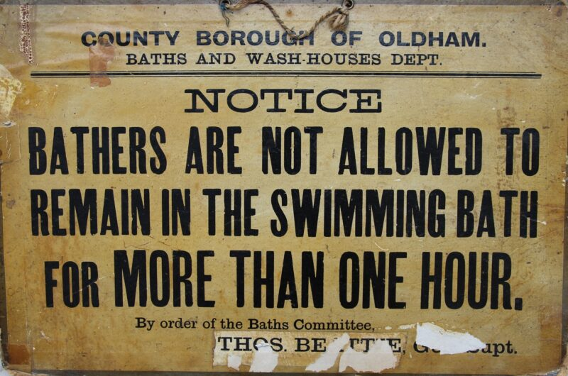 Bathing Notice from c.1930s