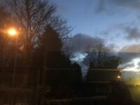 Ian's street lights coming on at 5.30pm