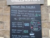 Take away sign at The Wellington, Greenfield