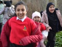 Children at Alexandra Park Junior School enjoying being back