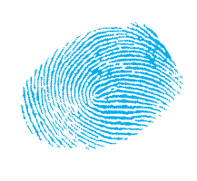 Fingerprint in blue ink.