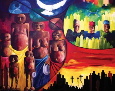 Painting of african women by Chike_Azuonye-Ozoemena