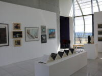 Installation photo showing paintings and sculpture by MAFA artists in Gallery 2