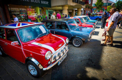 Photo showing a line of vintage minis.