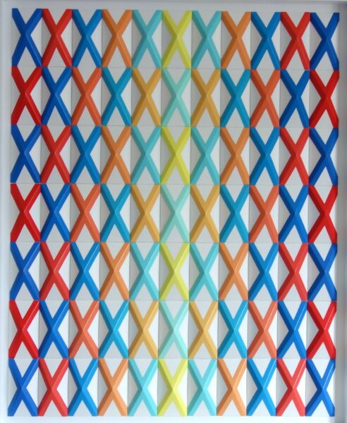 Geometric artwork by Zarah Hussain